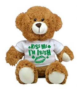 St Patrick's Day Limited Edition Plush Toys (Kiss Me Brown Bear)