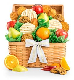 GiftTree Fruit and Cookie Congratulations Gift Basket | Premium Fresh Pears, Apples with Fresh C ...