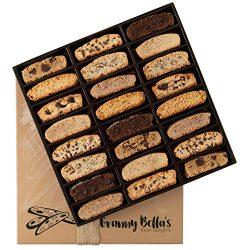 Granny Bella's Handmade Artisan Biscotti Gift Basket, 24 Gourmet Italian Cookies Non-GMO, Corpor ...