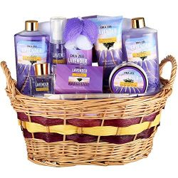 """Lavender Deluxe """"Complete Spa at Home Experience"""" 10 Piece Gift Basket for Women by Draizee – #1 ..."""