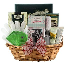 GreatArrivals Gift Baskets Hands and Feet Specialty Spa Bath and Body, Valentine's Day Gif ...