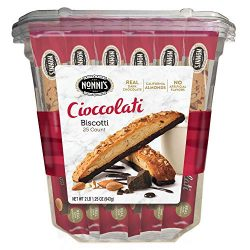 Nonni's Biscotti Value Pack with Larger Cookies, Cioccolati, 25Count, 2.1 lb