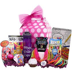 Beyond Bookmarks Girl Stuff – Birthday or Special Occasion Gift Basket for Girls and Tweens!