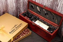 Andy Anand's Chocolate covered Cherry 1 lbs, Wooden Mahogany Wine Case, for Birthday, Valentine  ...