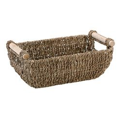 Hoffmaster BSK3000 Seagrass Basket with Handles, 4.25″ Height, 6.25″ Width, 12″ ...