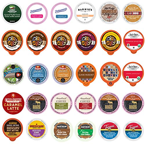 Flavored Coffee Single Serve Cups for Keurig K Cup Brewers Variety Pack Sampler (30 Count)
