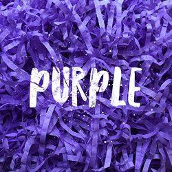 Purple Shredded Tissue Paper Shred Hamper Gift Box Basket Filler Fill Wedding Halloween Party Ch ...
