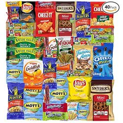 Sweet Choice (40 Count) Ultimate Sampler Mixed Bars, Cookies, Chips, Candy Snacks Box for Office ...