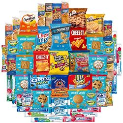 Snacks Care Package Mix Variety Pack of Chips, Cookies, Candy, Care Package to Friends and Famil ...