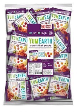 YumEarth Organic Fruit Snacks, 0.7 Ounce, 50 Count