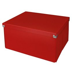 Pop n' Store Decorative Storage Box with Lid, Collapsible and Stackable, Large Mega Box, I ...