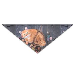OLOSARO Dog Bandana Cat in A Basket On Easter Eggs Triangle Bibs Scarf Accessories for Dogs Cats ...