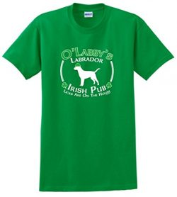 Dog Owner Gifts St Patricks Day Dog Labrador Lab Irish Pub Sign T-Shirt 2XL Green