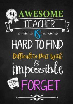 Teacher Notebook: An Awesome Teacher Is ~ Journal or Planner for Teacher Gift: Great for Teacher ...