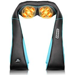 Back Neck Shoulder Massager with Heat – Deep Tissue Kneading Electric Back Massage for Nec ...