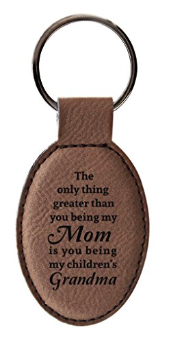 Gifts Grandma Only Thing Greater Than Mom is Being Grandma Gifts from Grandchildren Leather Oval ...