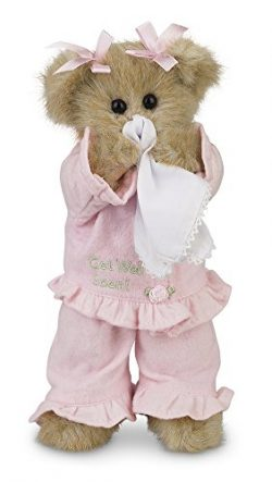 Bearington Sicky Vicky Get Well Soon Stuffed Animal Teddy Bear, 10″