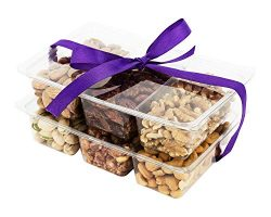 Choconuts Assorted Fresh Roasted Nut Gift Basket, Six Sectional Nut Tray, Great All Time Healthy ...