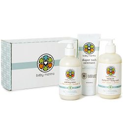 Baby Mantra Newborn Essentials Baby Gift Set, Includes Shampoo and Body Wash, Calming Lotion, an ...