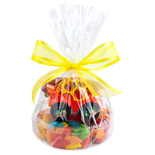 """Clear Basket Bags 12"""" x 18"""" 10 Pack Cellophane Gift Bags for Baskets and Gifts"""