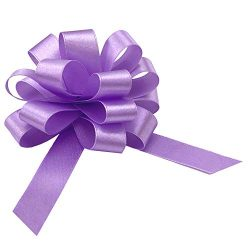 Easter Lavender Gift Pull Bows – 4″ Wide, Set of 9, Silky Fabric, Spring, Mother&#82 ...