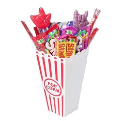 Kids Popcorn Gifts Also Includes Cups, Candy, Licorice and Suckers