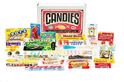 Classic Old Fashioned Retro Candy Gift Assortment for Father's Day, Birthday Party Celebra ...