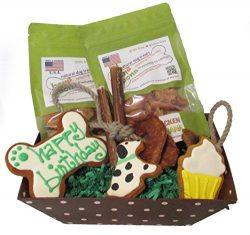 Bone Bons Dog Birthday Gift Basket Grain Free Organic Treats