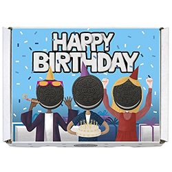 Oreo Gift Boxes – Includes Regular Oreo, Double Stuf and Mini Oreo Cookies (Happy Birthday)