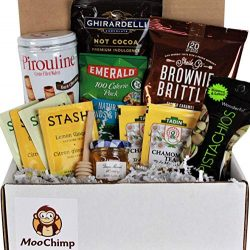 Get Well Gifts Basket Box , for Women, Men. Care Package Crate Box is Filled with Tea, Honey, Ho ...