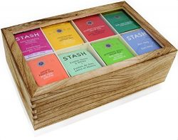 Stash Tea Bags Sampler Assortment Box – 120 COUNT – Perfect Variety Pack in Wooden G ...
