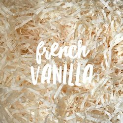 French Vanilla Cream Ivory Shredded Tissue Paper Shred Hamper Gift Box Basket Filler Fill Baby S ...