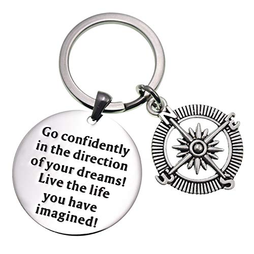 LParkin 2019 College Graduation Gifts Go Confidently in The Direction of Your Dreams Keychain St ...