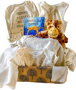 Baby Gift Basket Bundle with Carter's PJ's, Blanket,Popular Book and Giraffe Warmie( ...