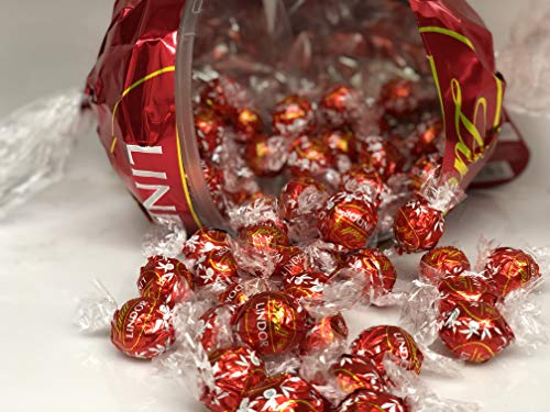 Lindt LINDOR Giant Red Ball, Milk Chocolate Truffles, Kosher, 18.6 Ounce (With about 45 Regular  ...