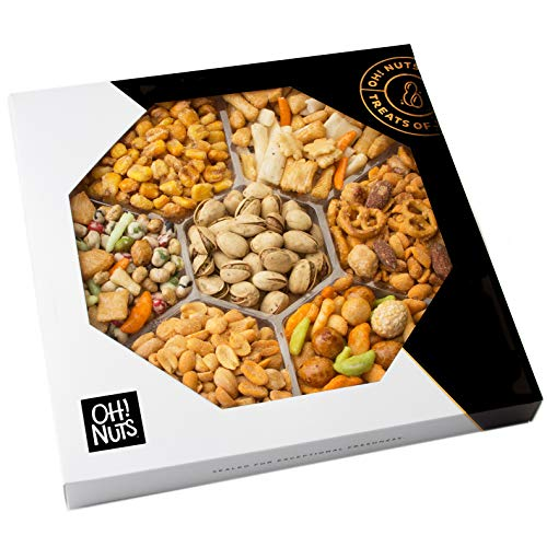 Oh! Nuts Exotic Snacks Party Assortment Food Gift Set |Christmas Holiday Basket |Unique Snack Ba ...