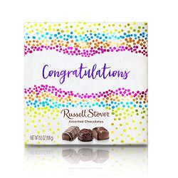 Russell Stover Assorted Chocolates Congratulations Box, 5.5 Ounce, 5 Count