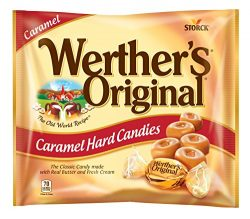 WERTHER'S ORIGINAL Caramel Hard Candies, 9 Ounce Bag, Hard Candy, Individually Wrapped Can ...
