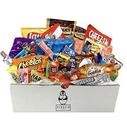 Everyday Care Package (50 Count) Snack Box – An Assortment of Chips, Crackers, Candy, Cook ...