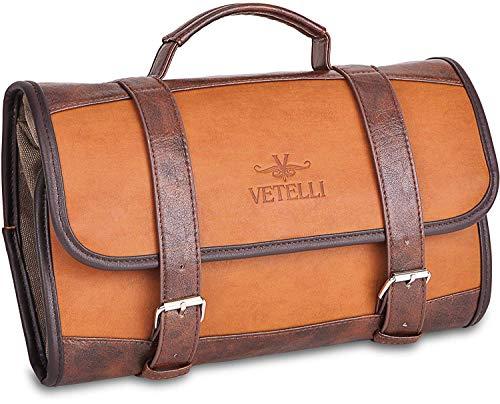Vetelli Hanging Toiletry Bag for Men – Dopp Kit/Travel Accessories Bag/Great Gift