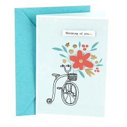Hallmark Thinking of You Card (Bicycle with Flowers)