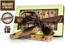 The Biscotti Factory Chocolate Chip Biscotti Gift Box, Individually Wrapped Biscottis, Hand Craf ...