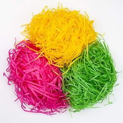 YIHONG 10.5oz (300g) Easter Grass Recyclable Shred Paper for Easter Gift Basket Filler Easter Pa ...