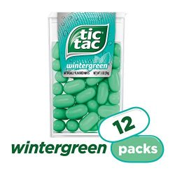 Tic Tac Fresh Breath Mints, Wintergreen, 1 oz Singles, 12 Count