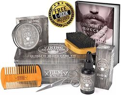 Viking Revolution Beard Care Kit for Men – Ultimate Beard Grooming Kit includes 100% Boar  ...