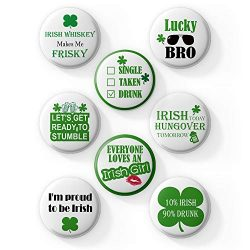 AVOIN 8 Count Large St Patricks Day Irish Pins | Funny Decorative Buttons Badges with Irish Sayi ...