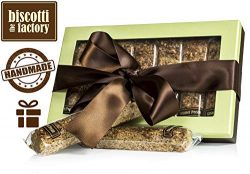 The Biscotti Factory Caramel Pecan Biscotti Gift Box, Individually Wrapped Biscottis, Hand Craft ...