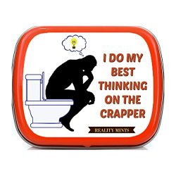 Gears Out Best Thinking on The Crapper Mints Weird Gags for Friends Potty Humor Easter Basket fo ...