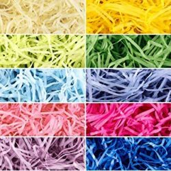 Yaomiao 10 Colors 310g Easter Grass Easter Basket Grass Filler Easter Grass Paper Shred Party Su ...