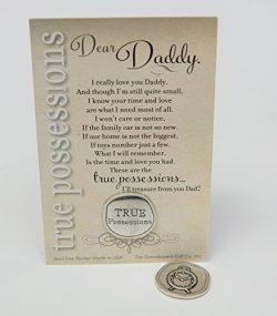 Daddy Sentimental Keepsake Pewter Coin (True Possessions)